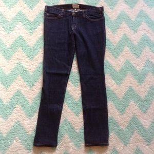 CURRENT ELLIOTT dark skinny deadstock jeans 30 M